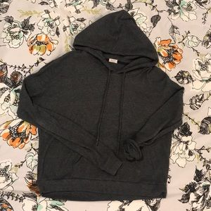 Dark Grey Brandy Melville Hooded Sweater!